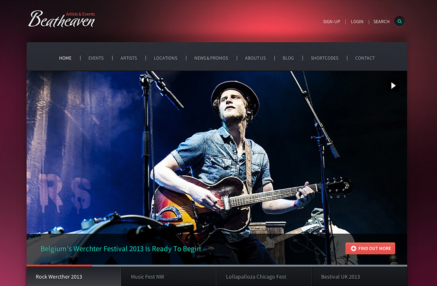 Responsive WordPress Music Theme