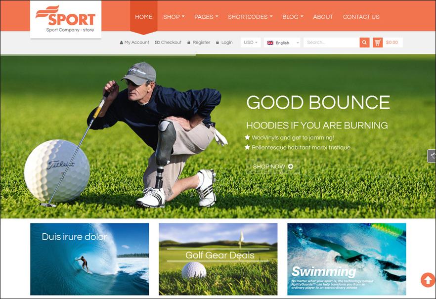 Responsive WordPress Sports Theme