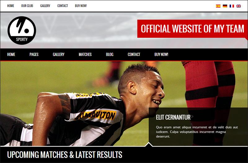 Responsive WordPress Theme for Sport Clubs
