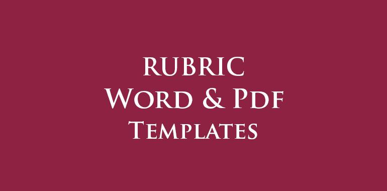 Rubric Templates
