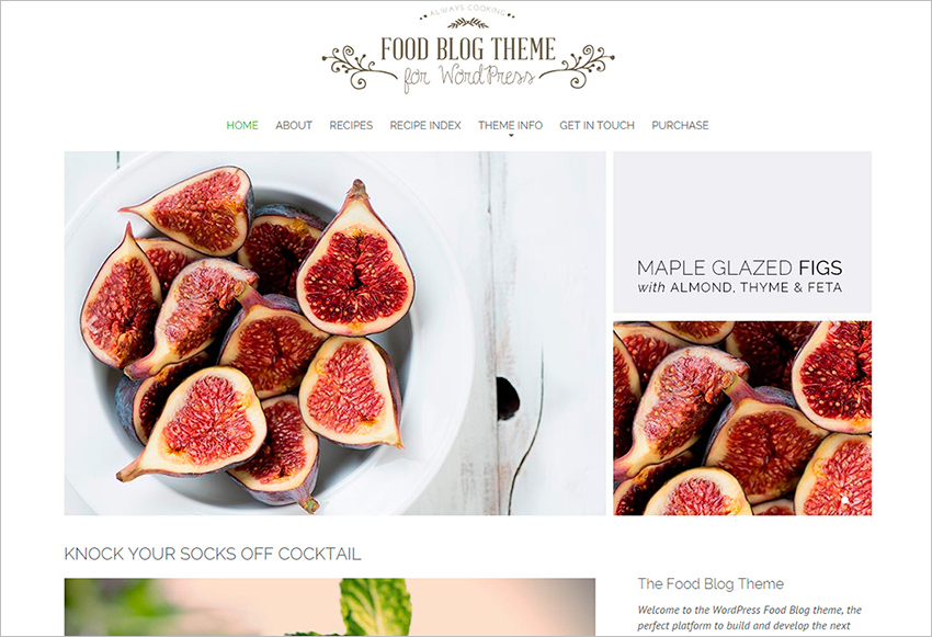 SEO Friendly Food Blog Theme