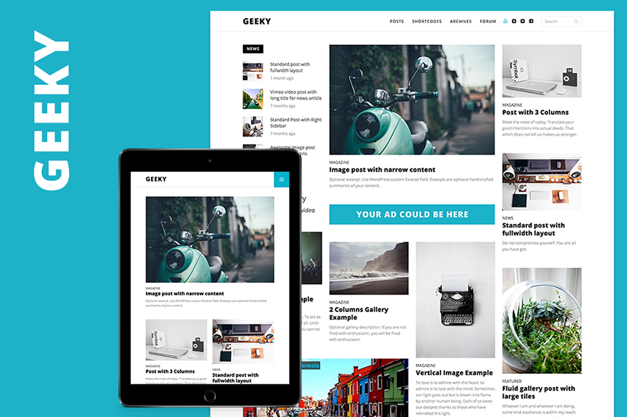 SEO Friendly Magazine & Blog Template WordPress