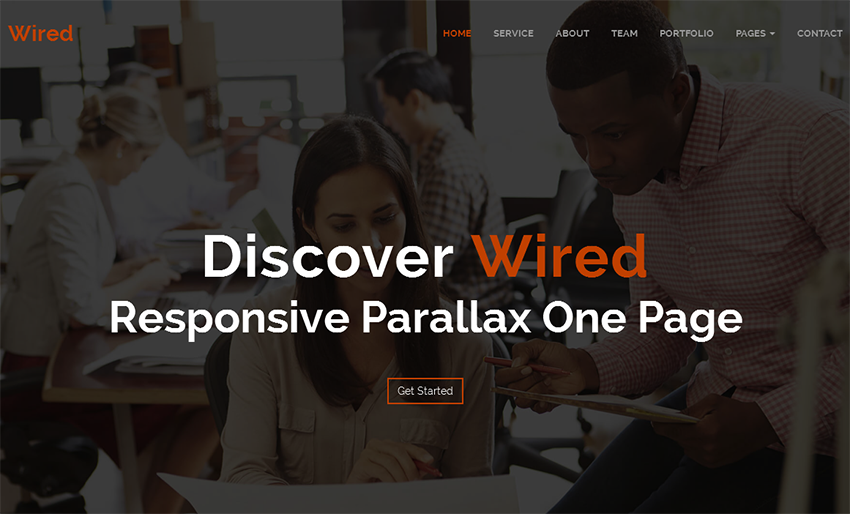 SEO Friendly Parallax HTML One Page Template
