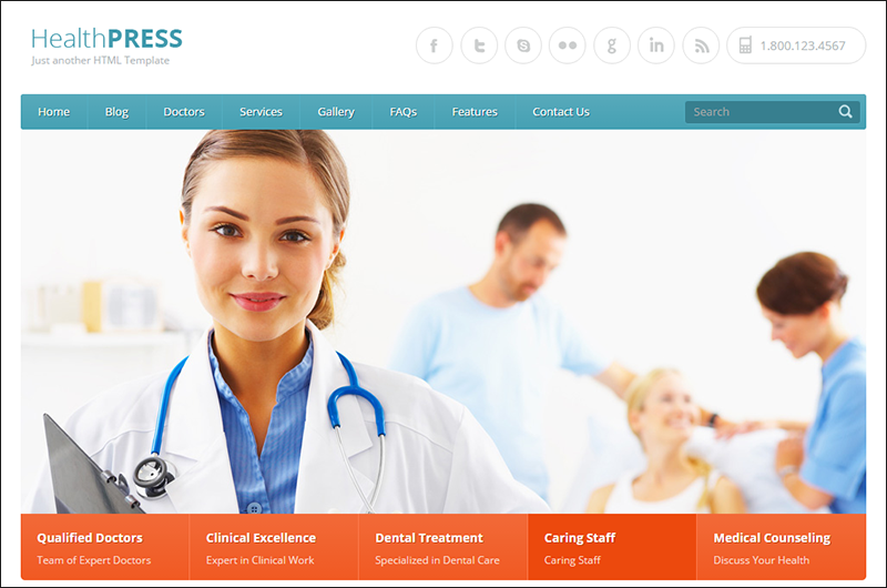 SEO Optimized Health & Medical HTML Template