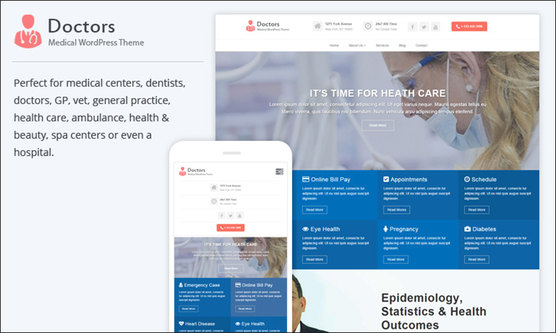 SEO Optimized Medical WordPress Them
