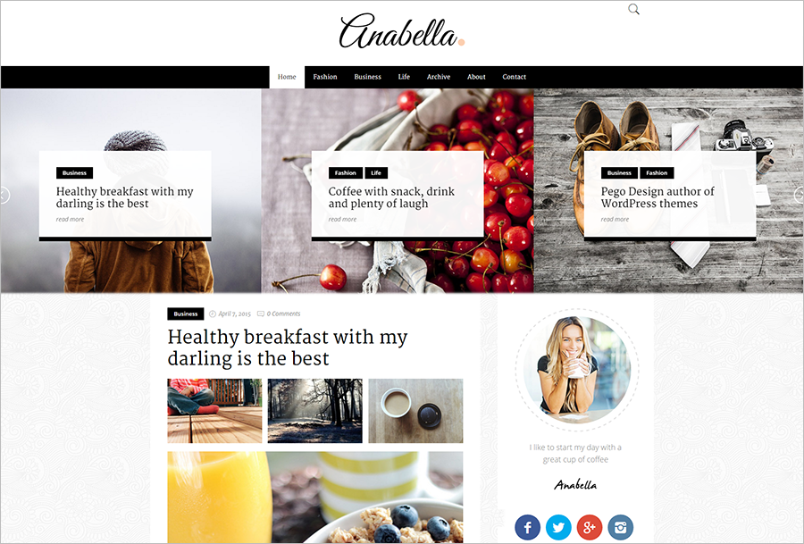 SEO Optimized Personal Blogging WordPress Theme