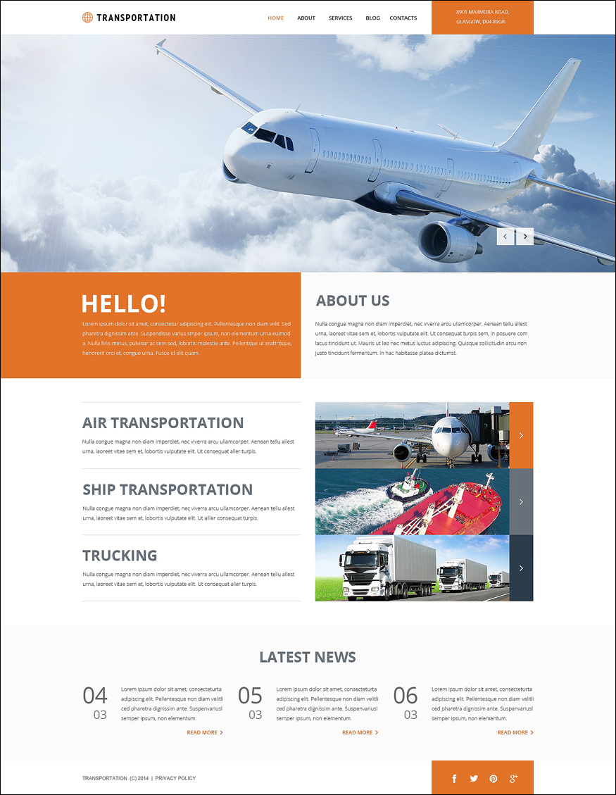 SEO Optimized Transportation Joomla Template