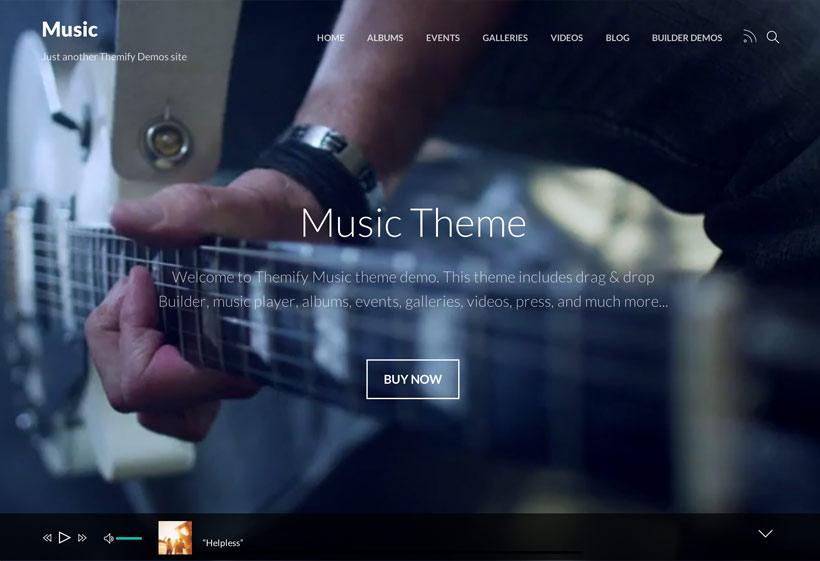 SEO Ready WordPress Music Theme