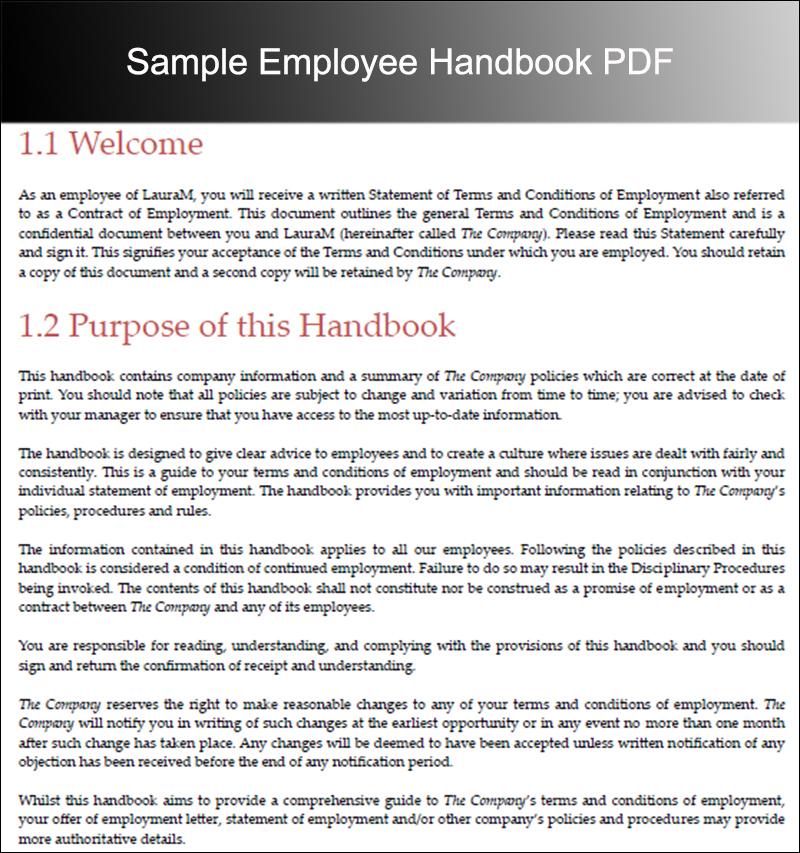 Free Editable Employee Handbook