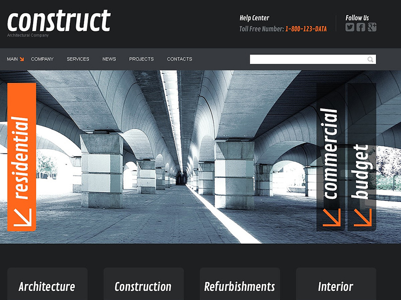Serious Construction Joomla Template