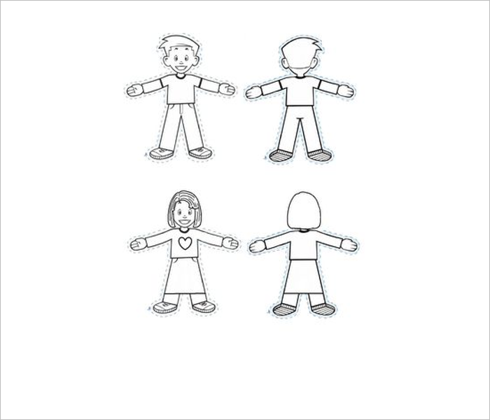 Set Of Flat Stanley Template