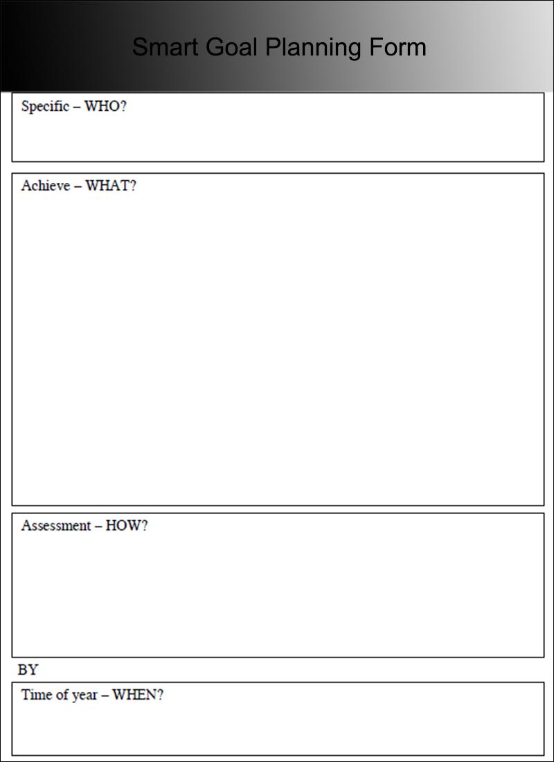 Smart Goal Planning Form