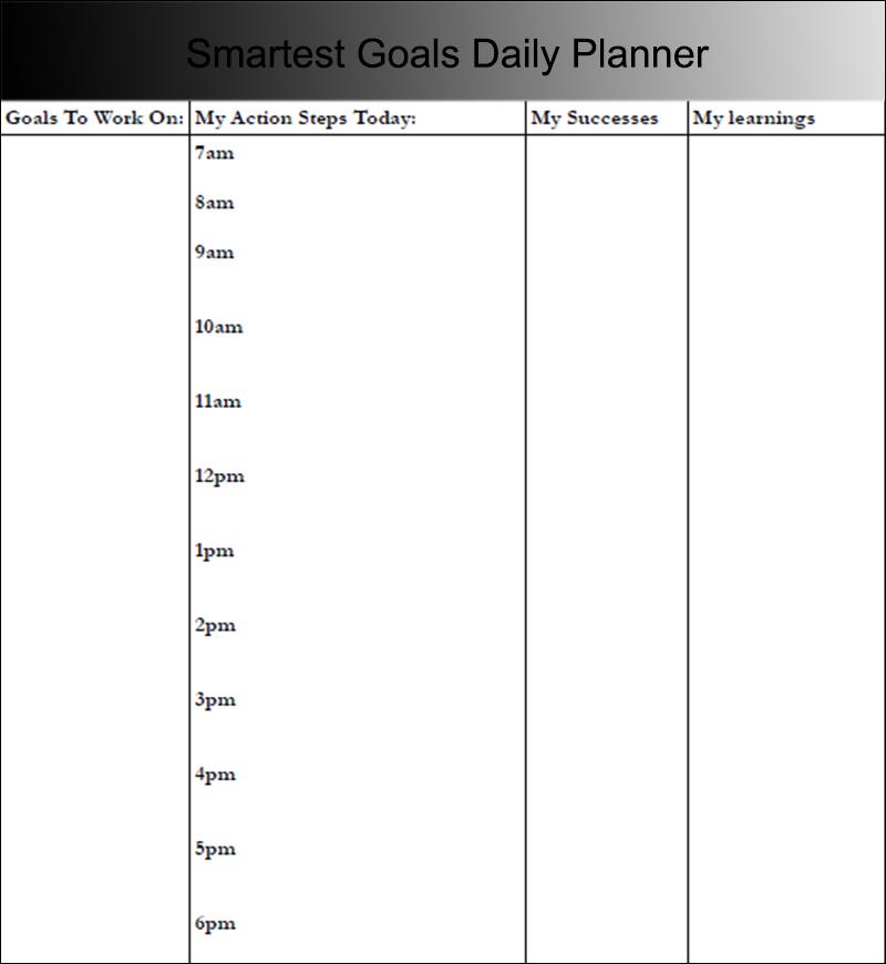 Smartest Goals Daily Planner