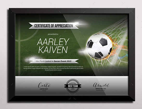 Sports Certificate Templates - Free Word, Pdf Documents | Creative
