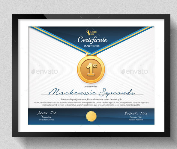 Sport Certificate Sample