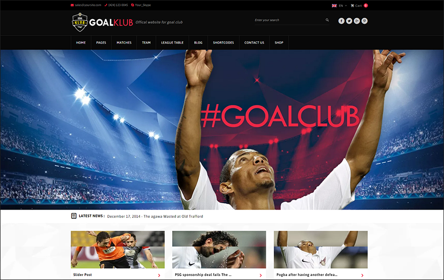 Sports & Events WordPress Theme