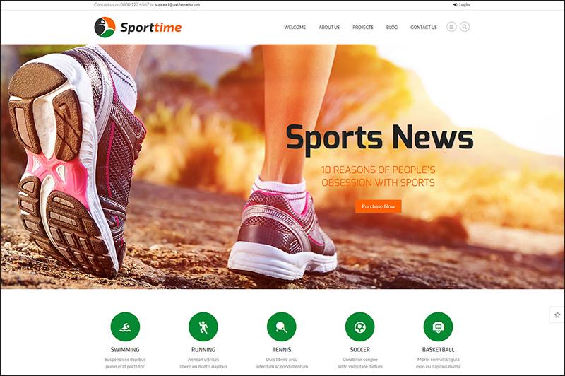 Sports & Gym WordPress Theme