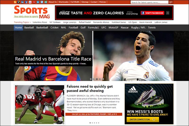 Sports Magazine WP Theme