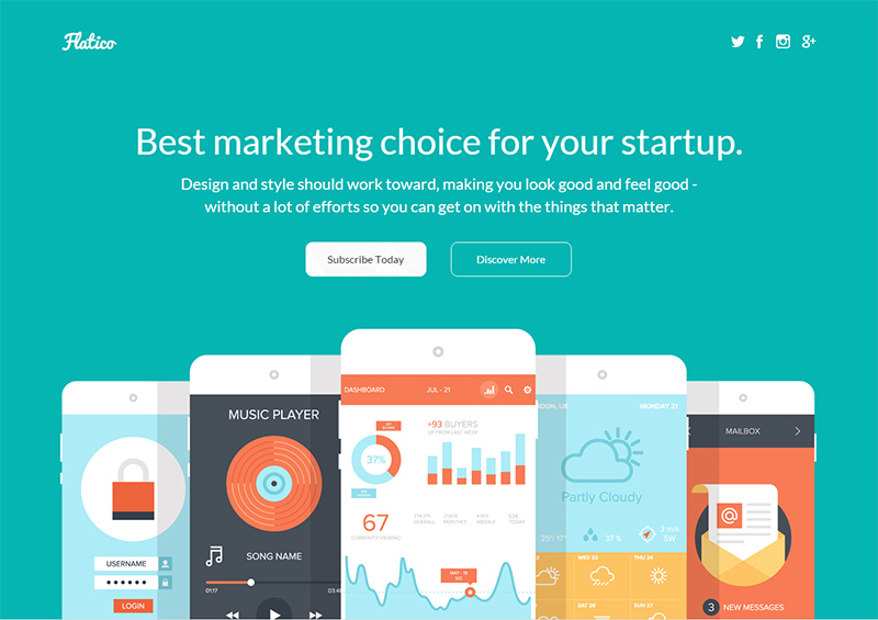 Startup Campaigns Landing page Templates