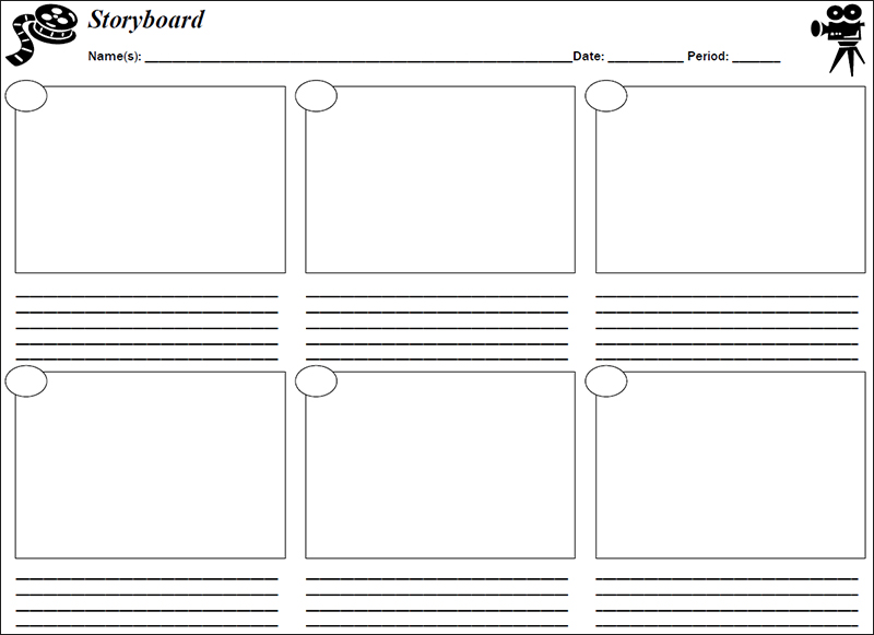 Movie Storyboard Free Sample Example Format Download Film Studies
