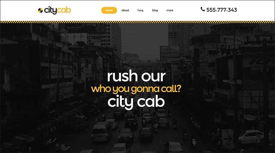 Taxi ResponsiveParallax Joomla Template