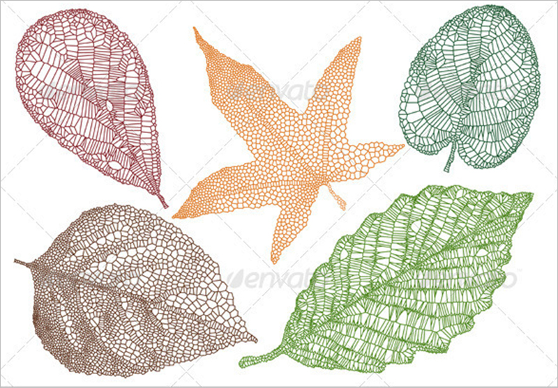 Textured Leaves Vector