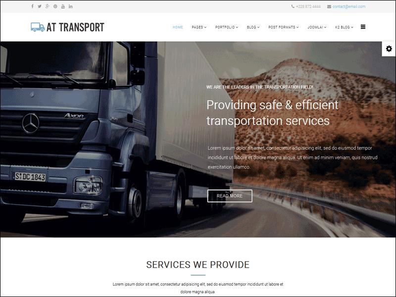 Transport Joomla Template