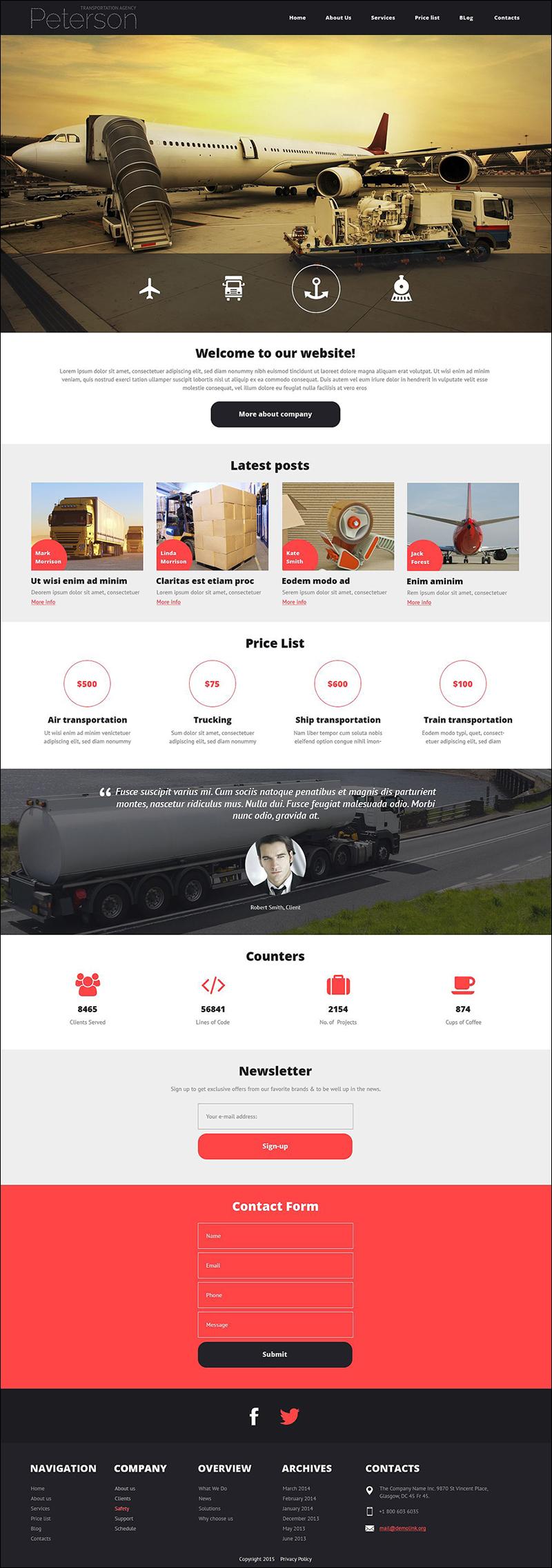 Transportation Agency Joomla Template