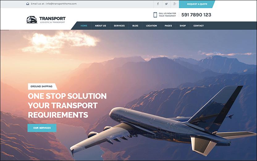 Transportation Services WordPress Template