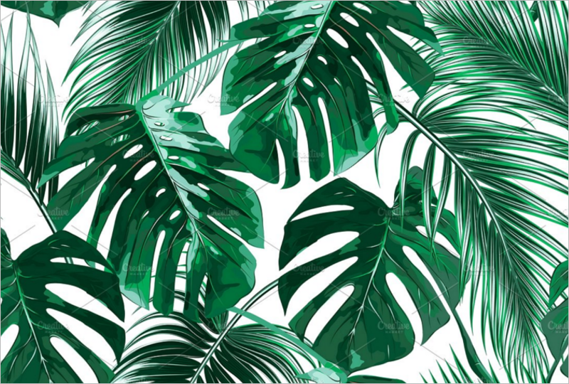 Tropical Leaf Template'