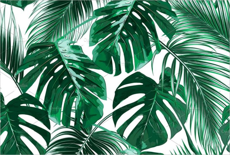 Tropical Leaf Template'