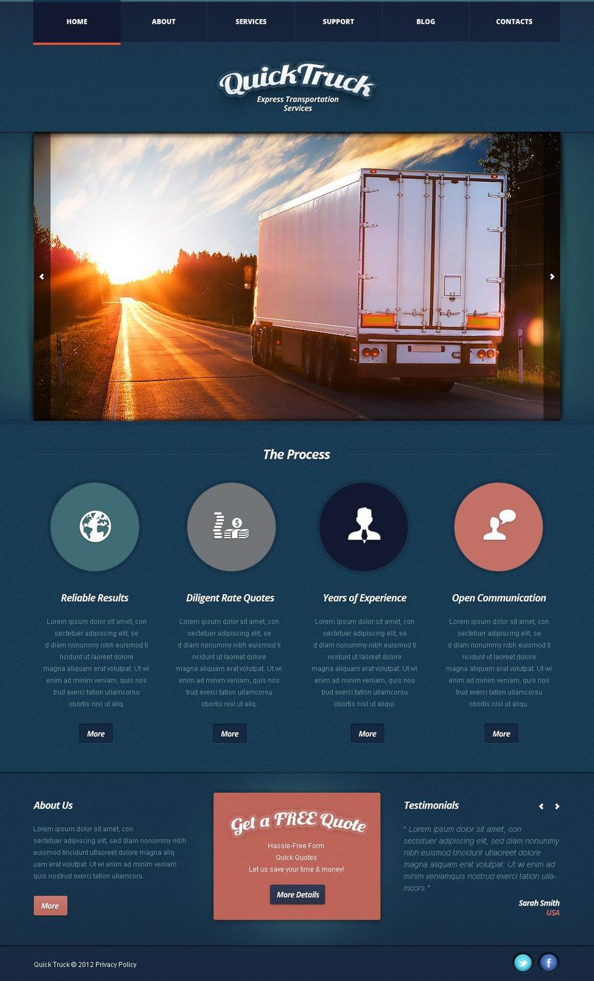 Trucking Joomla Template