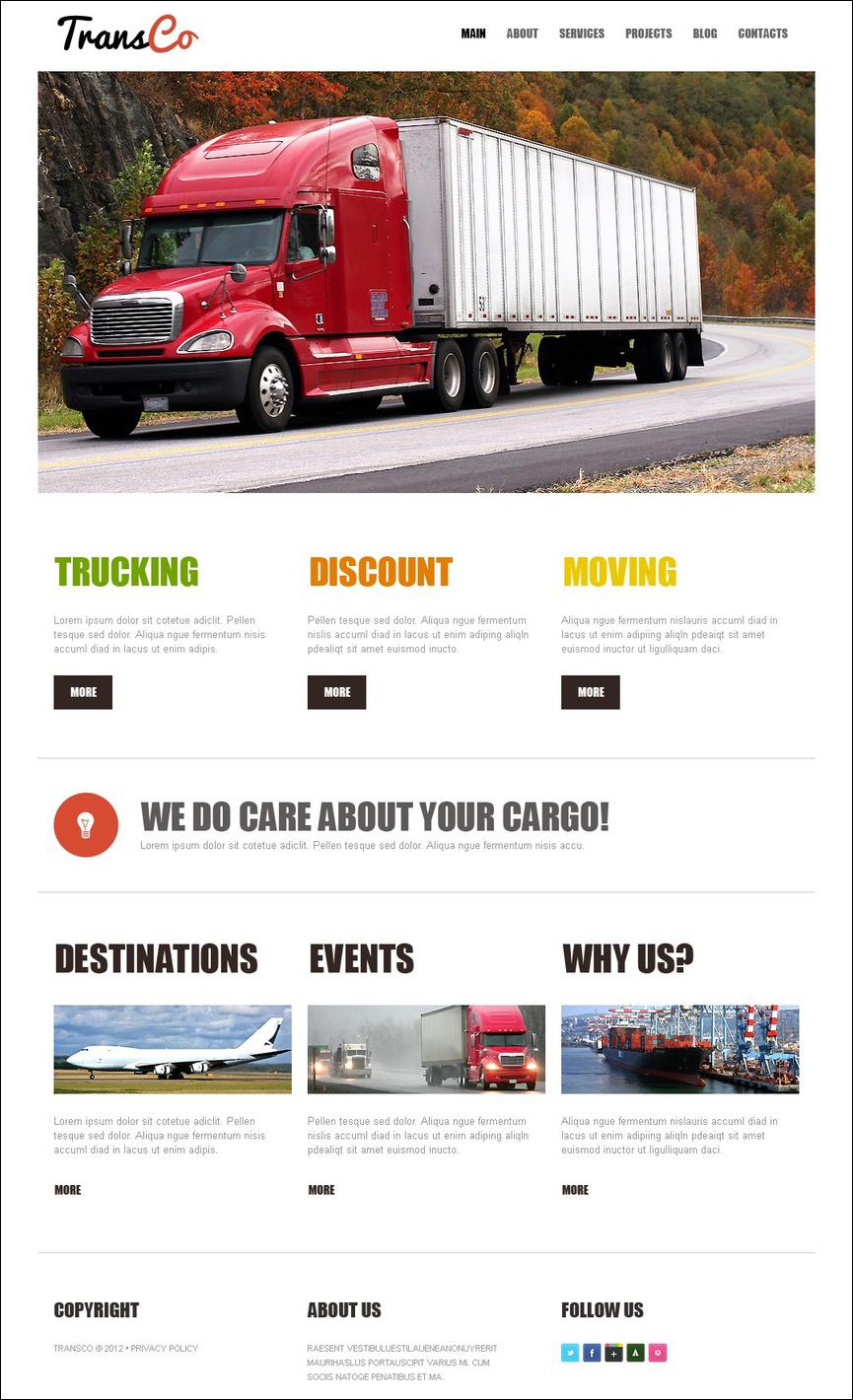 Trucking Site Joomla Template