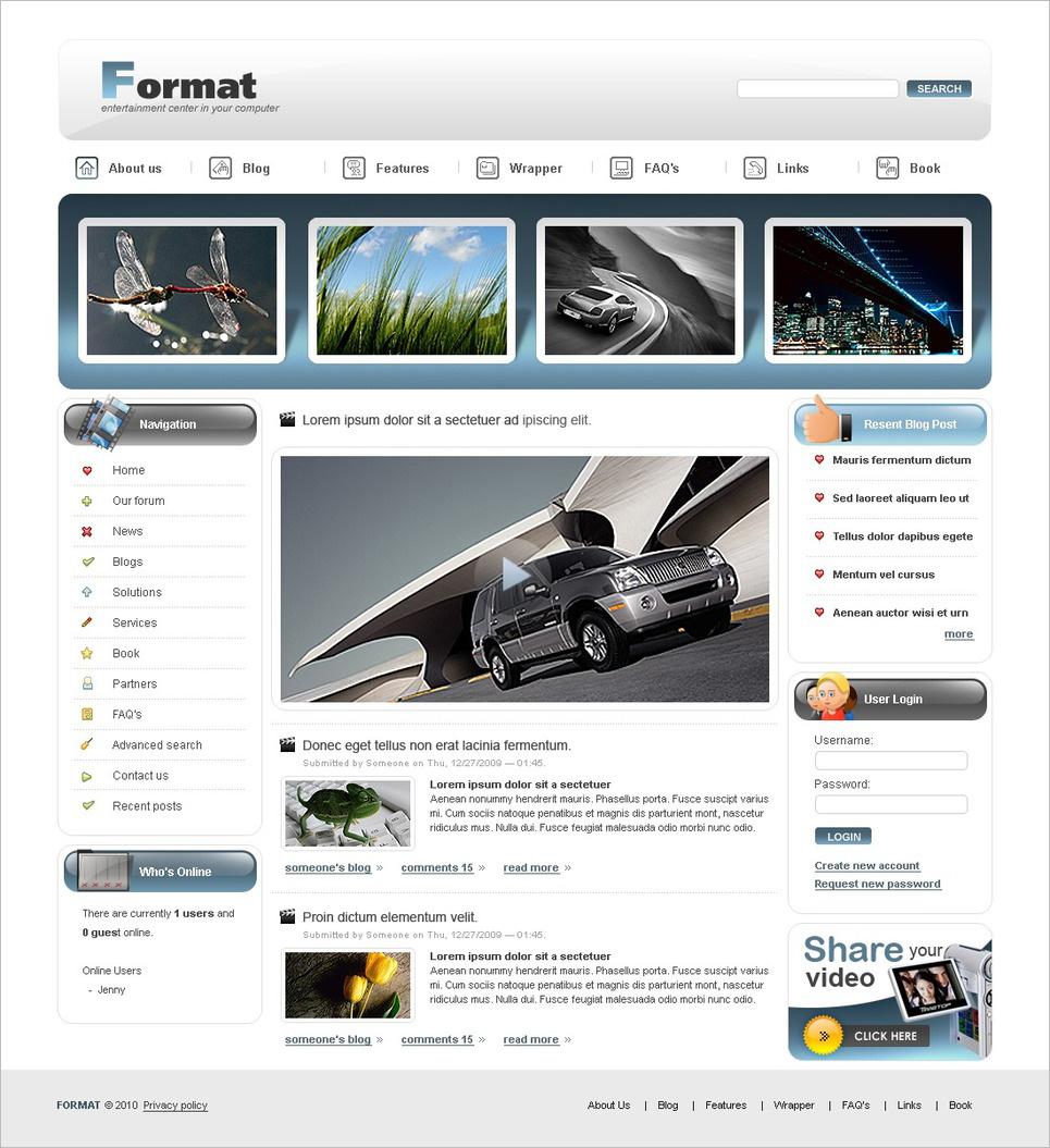 Video Gallery Drupal Template