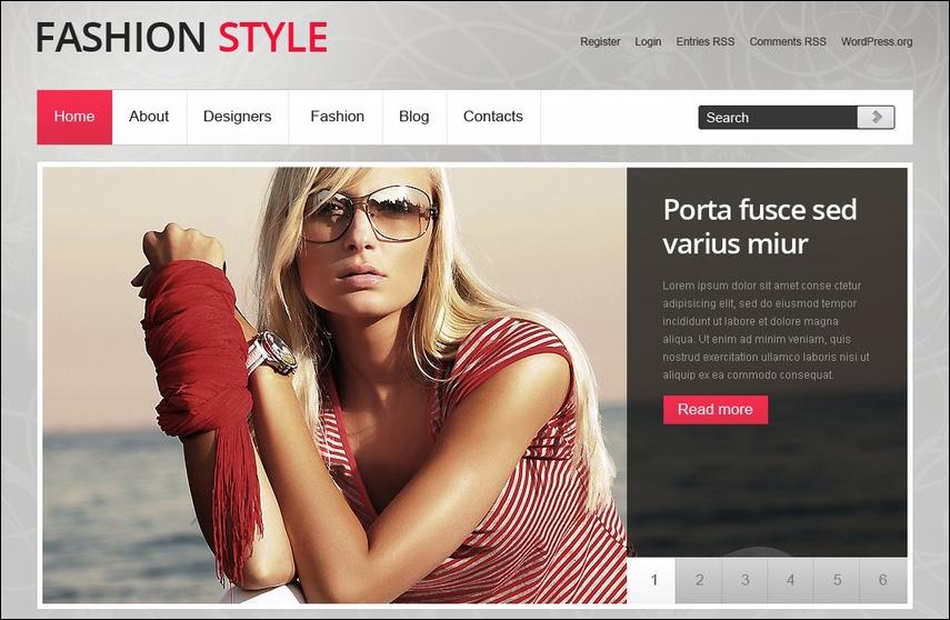 WP Model Agency Theme