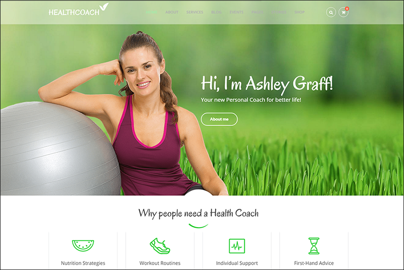 WP Theme For Healthy Life Coaching