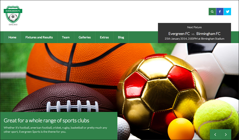 WP Theme for Sports Clubs