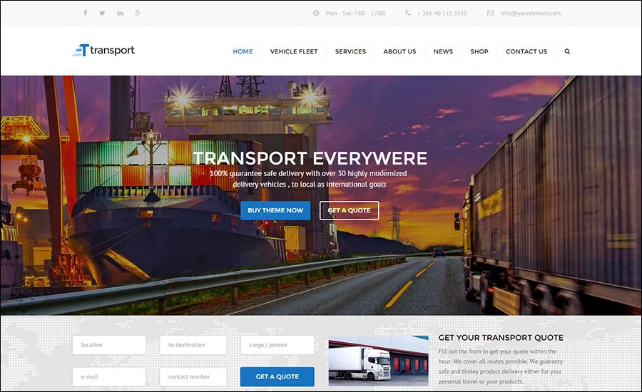 WP Transportation & Logistic Theme