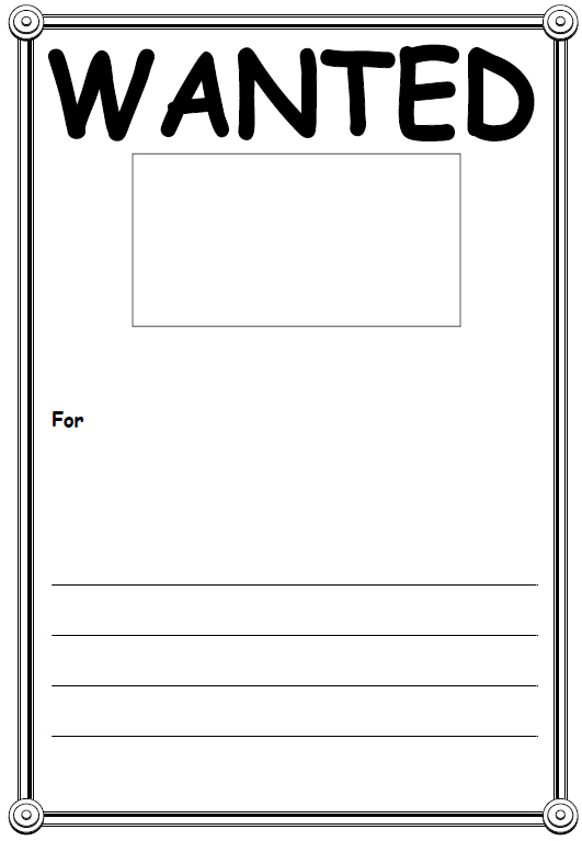 Wanted Poster Blank Template