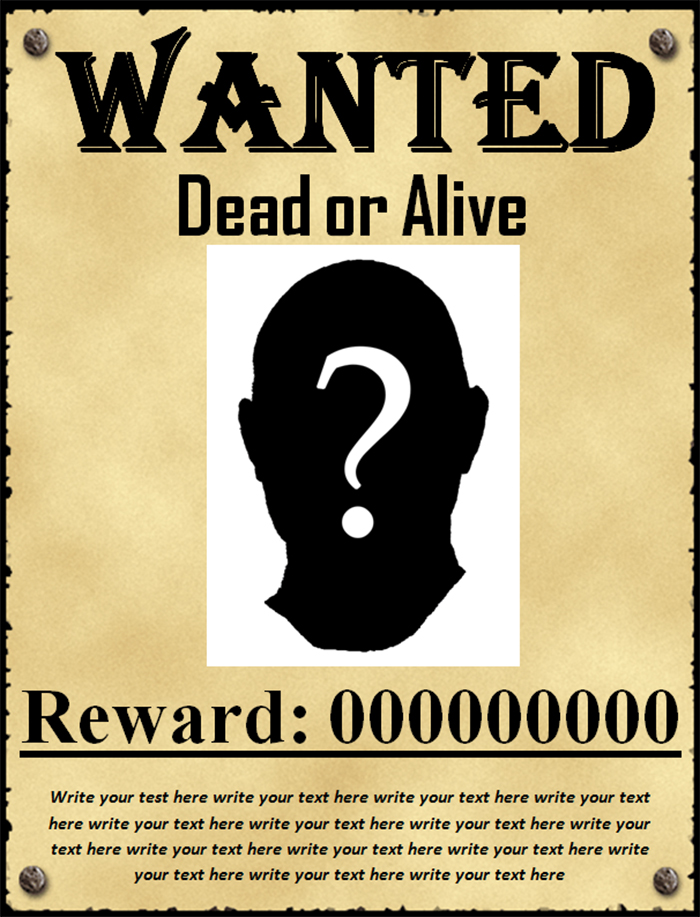 50+ Printable Wanted Poster Templates Free PDF, PSD Designs ...