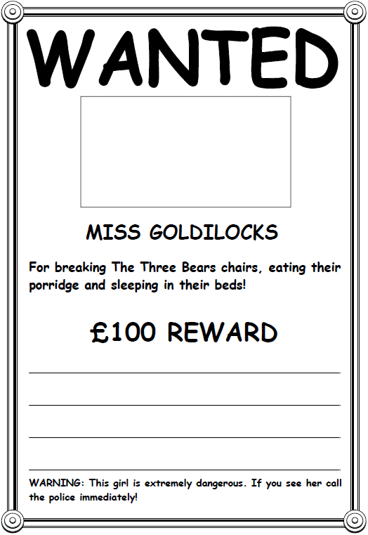 Wanted Poster Template Sample