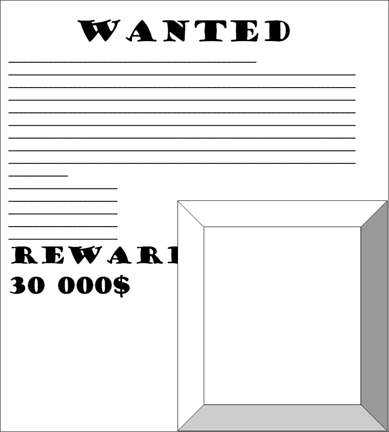 Wanted Poster Template Word