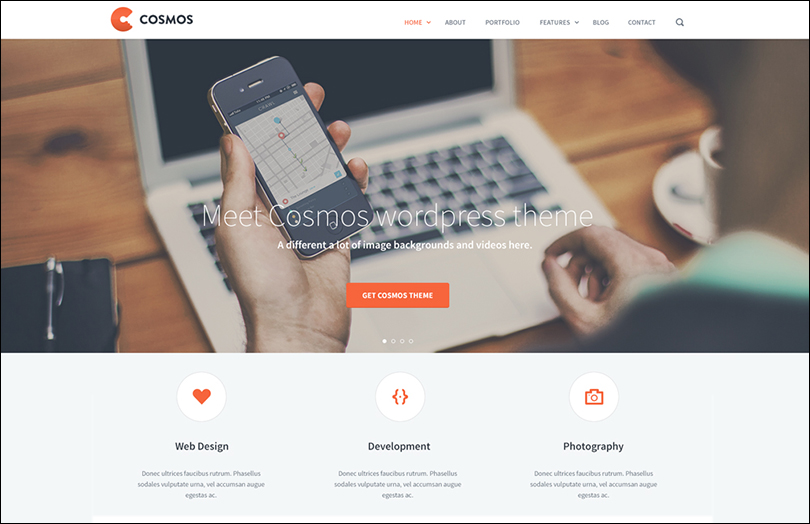 Website Landing Page PSD Template