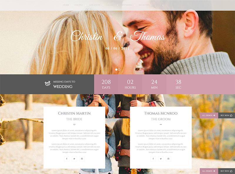 Wedding Cerimony WP Template