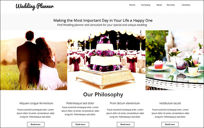 Wedding Planner Website Template