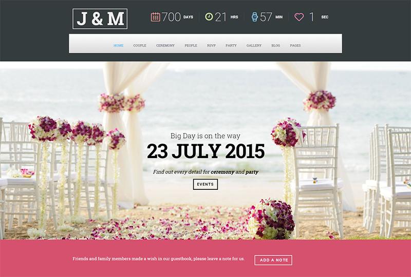 Wedding Suite WordPress Template
