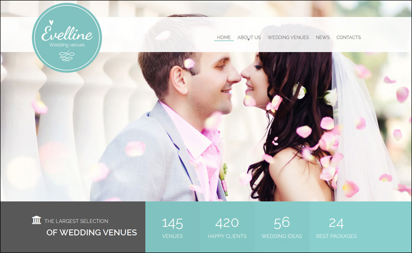 Wedding Venue Website Template