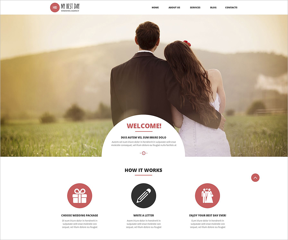 Weedding Agency Wordpress Theme