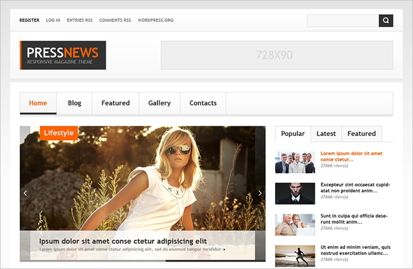 WordPress News Blog Theme