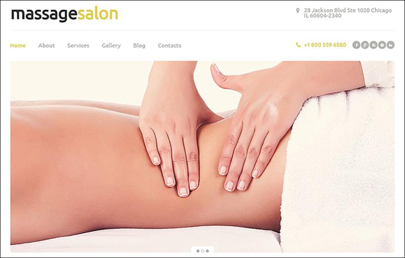 WordPress Responsive Massage Salon Theme